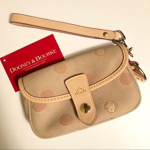 Dooney & Bourke logo flap wristlet